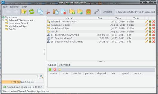 4Shared Desktop untuk Linux
